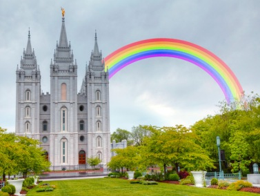 LDS temple rainbow